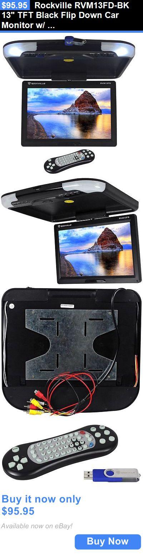 Car Monitors w Built-in Player: Rockville Rvm13fd-Bk 13 Tft Black Flip Down Car Monitor W/ Usb/Sd/Video Games BUY IT NOW ONLY: $95.95