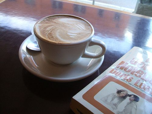 A latte and a good book at Zeitgeist Coffee in Seattle | No Apathy Allowed