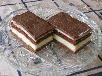 Kinder kolač recept Potrebni sastojci za Kinder kolač Za kore: 3 jaja 2 kašike šećera 1.5 kašika brašna kašika kakaa pola kesice prašk...