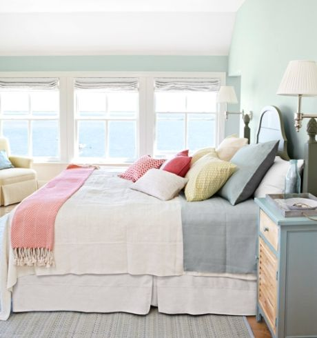 Muted Pastel Bedroom Palette