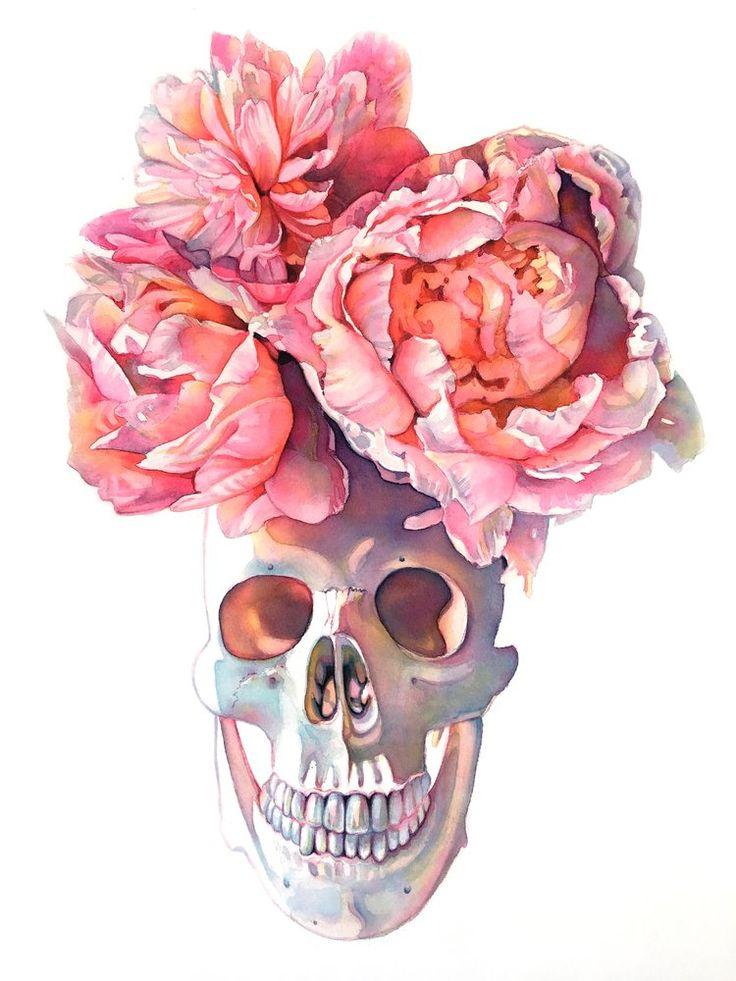 всегда череп из цветов постер входа концерт попало