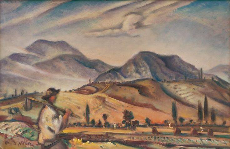 Martin Benka - Krajina z Oravy, okolo 1937