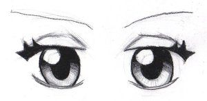 how to draw a pair of eyes