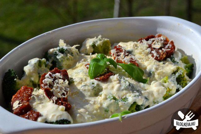 Olaszos csőben sült brokkoli