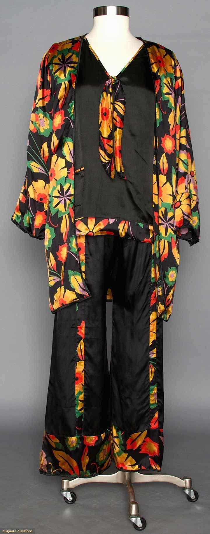 Pajama Sets (image 3)   1920s   silk, satin, rayon   Augusta Auctions   April 9, 2014/Lot 72