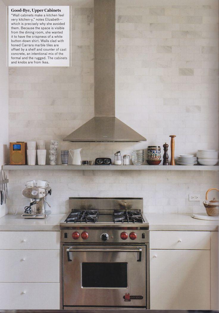 Countertop Shelf : Shelf + Countertop / Remodelista Kitchen Pinterest