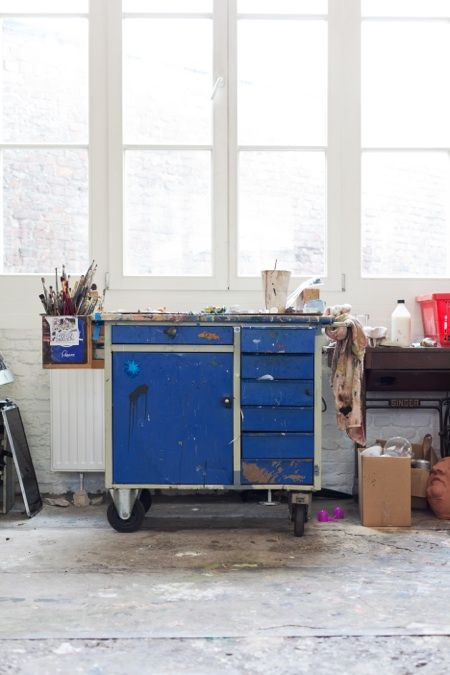 Cool Woking StationArt Studios, Offices, Blue, House, A8 Studios, Rustic