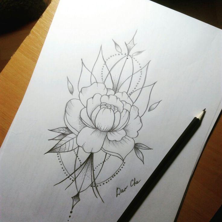 #цветок #эскиз #эскизтату #татуэскиз #picture4tattoo #tattooflower