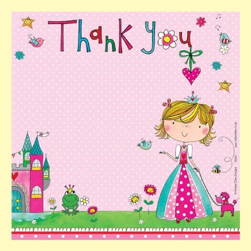 Rachel Ellen Princess Thank You Cards x 8: Amazon.co.uk: Toys & Games