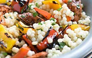 Pearl Couscous Salad with Merguez and Grilled Bell Peppers | Whole Foods Market
