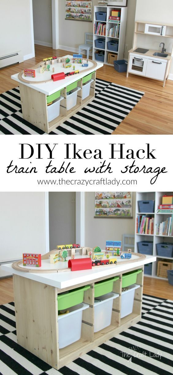 An Ikea Hack Train & Activity Table