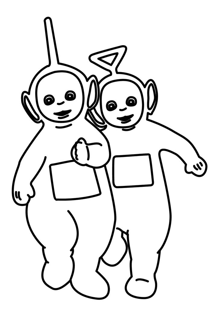Teletubbies Tinky Winky And Dipsy Coloring For Kids