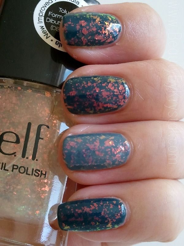 Essie's dupe: ELF Fairy Dust - flaky nail polish...This is good to know