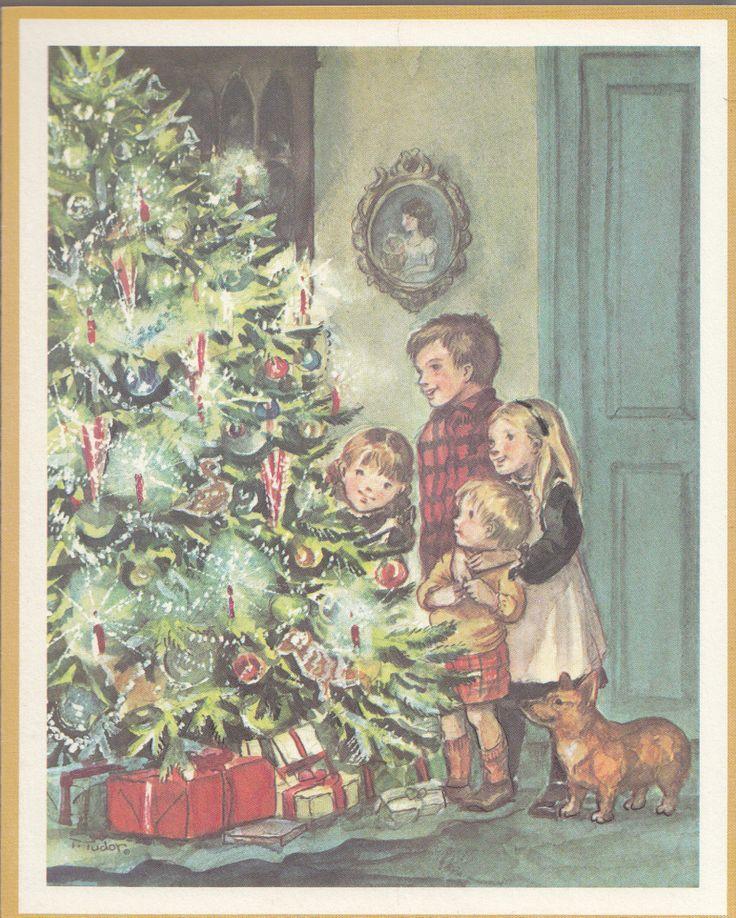 Rare Mint Tasha Tudor Vintage Irene Dash Christmas Card FT23 68F With A Corgi