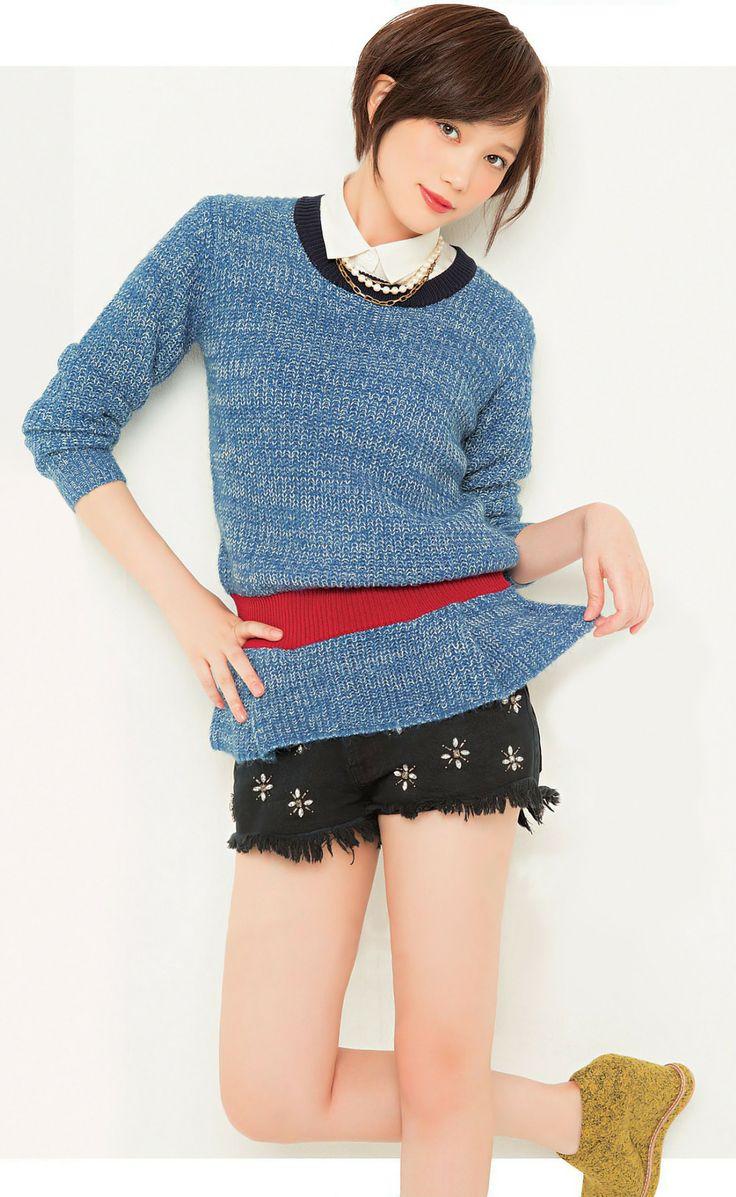 本田翼  sweater and pants!!!