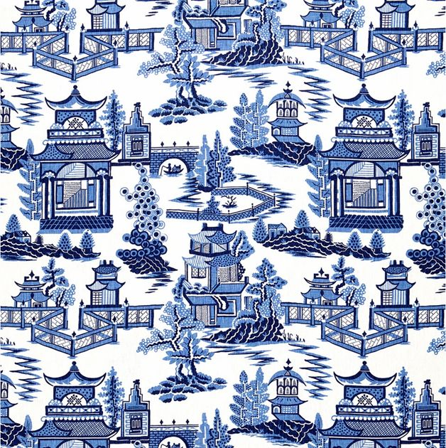 The Pink Pagoda: Blue and White Monday -- Blue and White Fabric