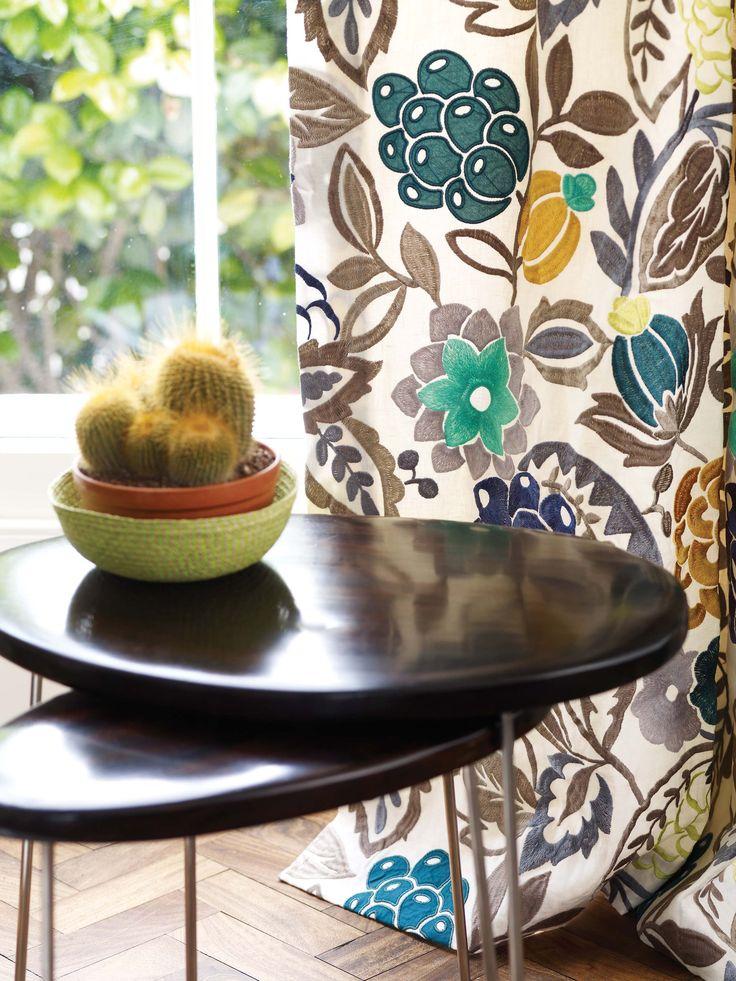 Samana La Desirade curtain fabric by @matthewwilliamson for @osbornelittle - available now from Rodgers of York #interiors #fabric