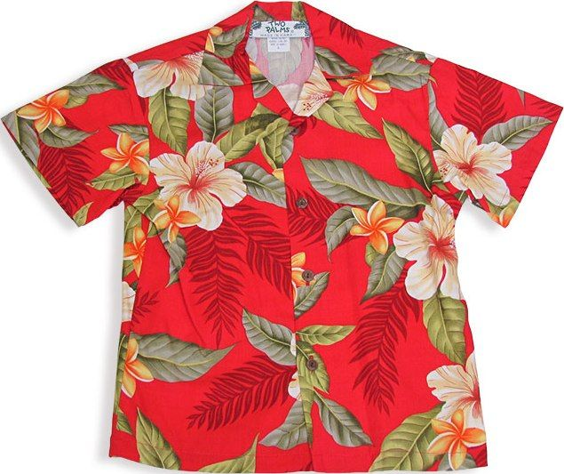 Boys Hawaiian Shirt Leilani - Red