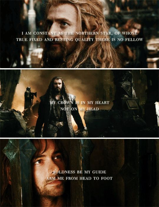 The Heirs of Durin + Shakespeare #thehobbit