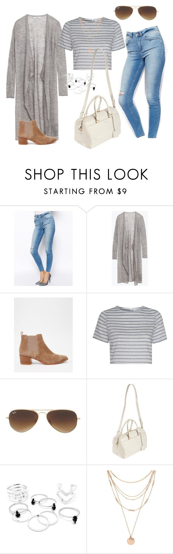 """""""Untitled #249"""" by charlotte-down on Polyvore featuring ASOS, Zara, Vagabond, Glamorous, Ray-Ban, Yves Saint Laurent and Forever 21"""