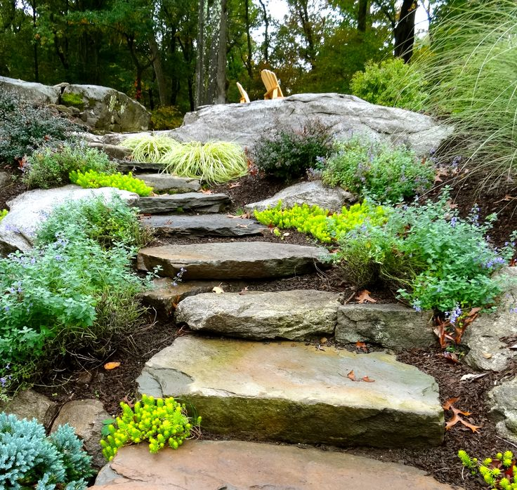 Making A Wonderful Garden Path Ideas Using Stones: 52 Best Sloping Backyard Ideas Images On Pinterest