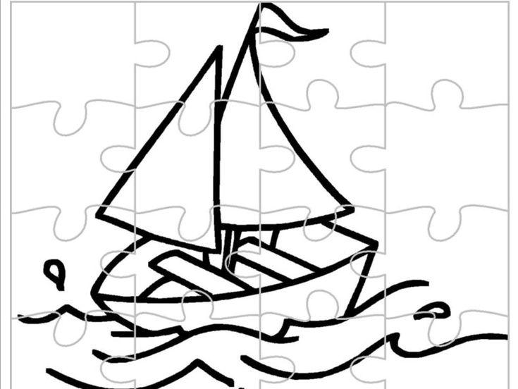 Loďka – omalovánka a puzzle v jednom – Dětské stránky