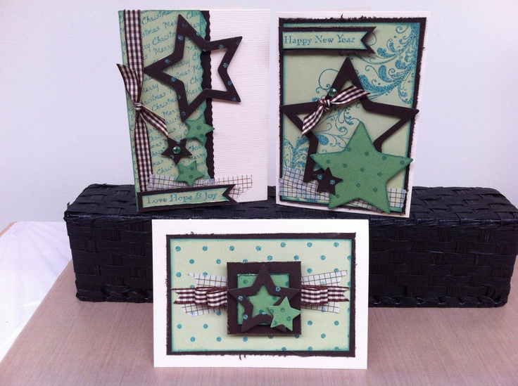 Spots n Stars Cards using stamping, Star Die and Distress Inks.