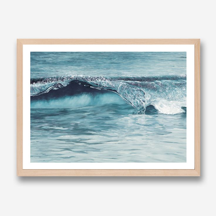 Featuring a dramatic crashing ocean wave, this art print was originally hand painted by our in-house artist team, and now available as a reproduction giclée art print (archival using pigment inks), unframed or framed. Size & frame colour options available. We ship worldwide. #ThePrintEmporium #waves #beachvibes #beachprint #beachart #artprint #summer www.theprintemporium.com.au