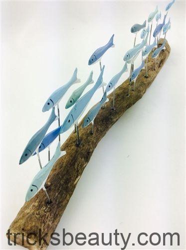 Dekorativer Holzfisch – Seaside Gifts – maritime und nautische Geschenke und Strand