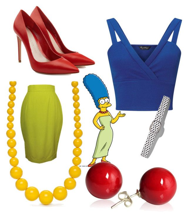 """The Simpsons Movie"" by ceceingstarz on Polyvore featuring Thierry Mugler, Alexander McQueen, Miss Selfridge, New York & Company and Kim Rogers"