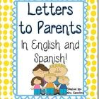 Over 75 pages! This packet offers  a full year worth of notes, letters, and messages for teachers to parents in both English and Spanish translatio...