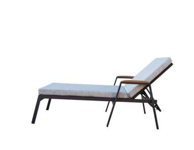 1716/START-SU. Sunbed from aluminium and Serge Ferrari fabric. Have you a project. Contact us..