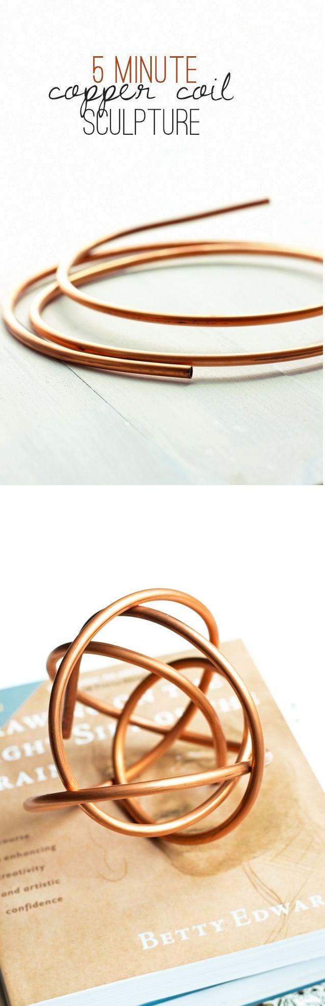 Five Minute Copper Coil Sculpture Tutorial  PIN now!   READ more at www.penniesforafortune.com