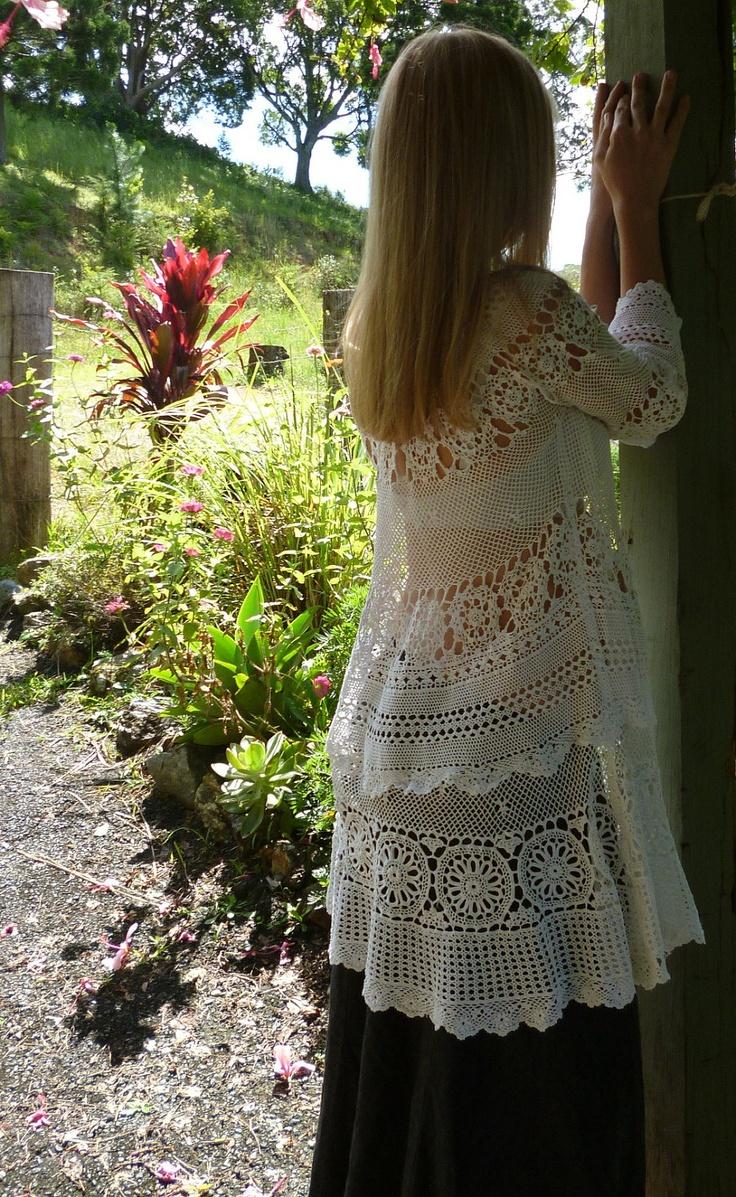 48 best crochet for maternity images on pinterest maternity bohemian maternity dress white crochet tunic osfm ombrellifo Images