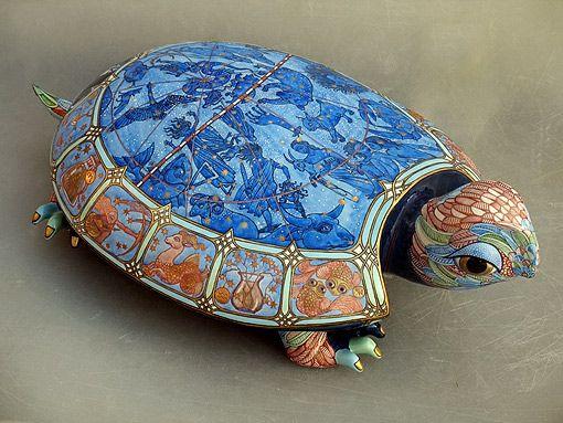 Ukrainian painted porcelain sculptures  :  Anya Stasenko and Slava Leontiev