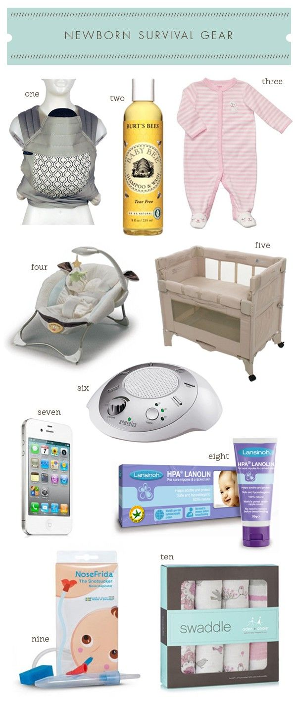 #5!! Great list: Newborn Survival Gear from a mom of two Best list I'v ever seen!