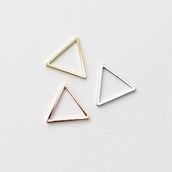 3260011 / Triangle Small / 16k Gold Plated Brass by OBCsupply