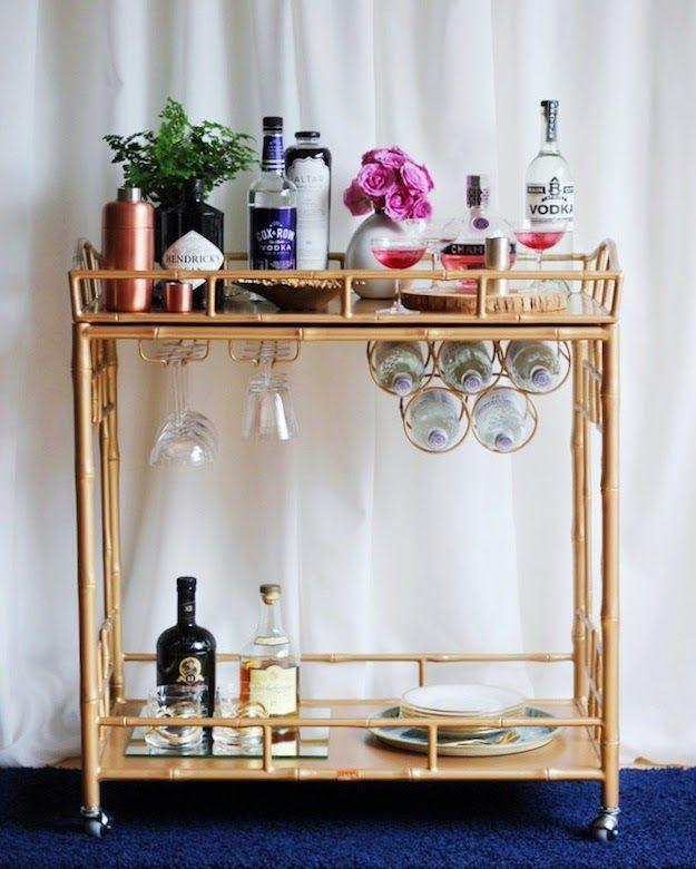 the social diary society social home inspiration bar bar cart decor bars for home bar cart. Black Bedroom Furniture Sets. Home Design Ideas