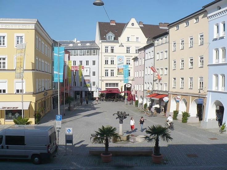 Ludwigsplatz in Rosenheim, Bavaria, Germany.
