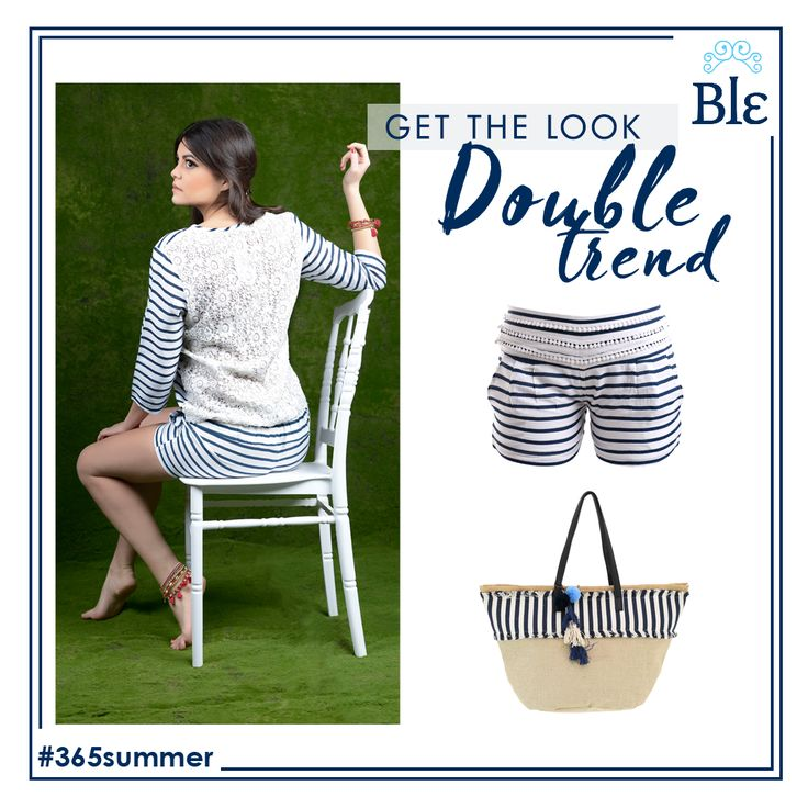 Lace and stripes? Who knew that these two trends would join forces and create a hot new proposal! Get the look here www.ble-shop.com