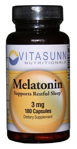 Vitasunn Nutritionals - Melatonin 3mg 180 Capsules by Vitasunn, €19.95 (http://vitasunn.com/full-range/melatonin-3mg-180-capsules-by-vitasunn/)