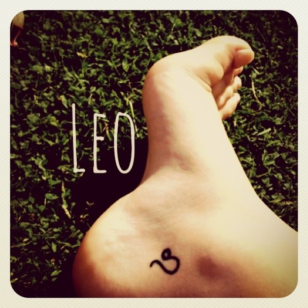 Leo Foot Tattoo....I like the placement