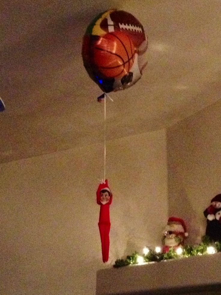Elf on the Shelf idea - any balloon with helium will work. Seasons by Design specialty shop, 2605 Ford Drive, New Holstein, WI 53061.       920-898-9081 Seasonsbydesigngifts@yahoo.com  Follow us on Facebook