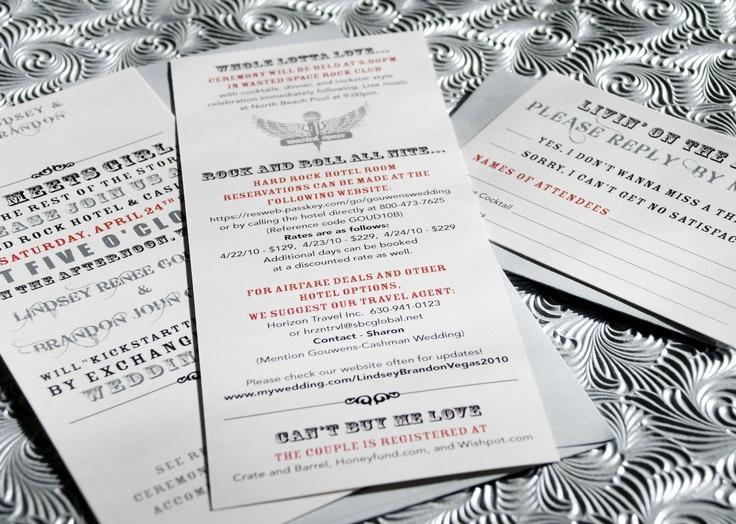 22 best wedding invitations images on pinterest invites wedding las vegas rock wedding invitation black jacket stopboris Choice Image