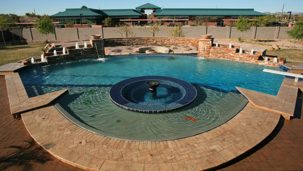 Phoenix az swimming pool builder and remodeling true blue pools outdoor living pools for Swimming pool builders phoenix az