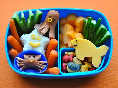 """""""Sea, how cute!"""" - My son will love this! We already have done the hotdog octopus. This kicks it up several notches."""