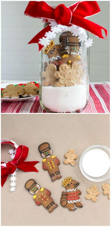 Centre de table avec du sucre et des biscuits en pain d'épices. 18 Super jolies décorations DIY qui vont transformer votre table de Noël