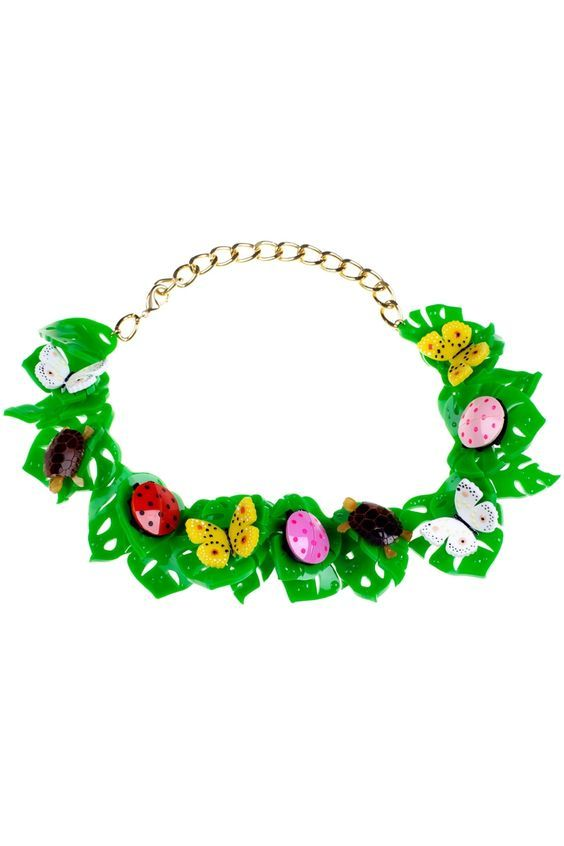 Hot House Ultra Flora and Fauna Necklace £425 - SS13 Hot House