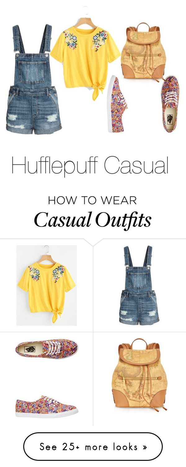 """""""Hufflepuff Casual"""" by abouteverythingd on Polyvore featuring Vans and Alviero Martini 1° Classe"""