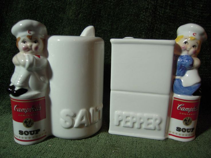 Vintage Campbell's Soup Company Salt & Pepper Shakers Westwood 1996